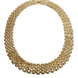 🇨🇦 Flexible link gold plated necklace, NWOT